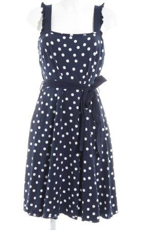 Dorothy Perkins A-Linien Kleid dunkelblau-weiß Punktemuster Rockabilly-Look