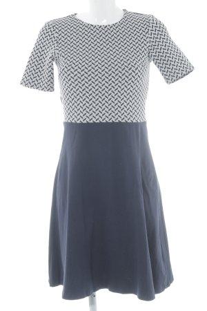 Dorothy Perkins A-Linien Kleid dunkelblau-weiß Zopfmuster Casual-Look