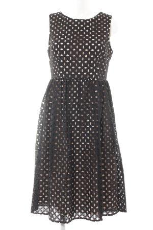 Dorothy Perkins A-Linien Kleid schwarz-rosé grafisches Muster Elegant