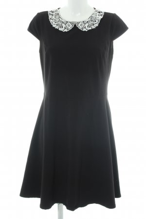 Dorothy Perkins Robe trapèze noir-blanc tissu mixte