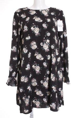 Dorothy Perkins A-Linien Kleid weiß-schwarz Blumenmuster Romantik-Look