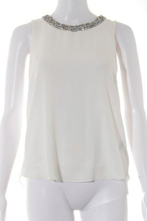 Dorothy Perkins ärmellose Bluse weiß-silberfarben Business-Look