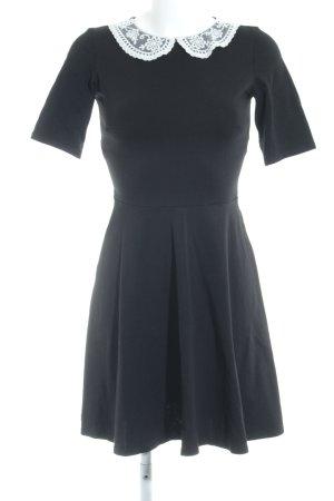 Dorothy Perkins Vestido babydoll negro-blanco estilo clásico