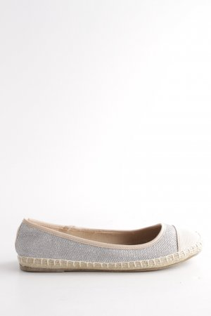 Dorothy Perkins Ballerinas with Toecap silver-colored-natural white casual look