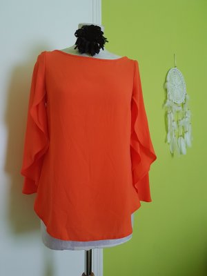 Dorothy Perkins Kimono Blouse neon orange synthetic fibre