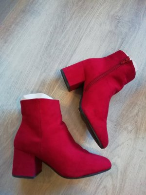 Dorothy Perkins Boots Booties Ankles Stiefelette Rot Suede Wide fit 40