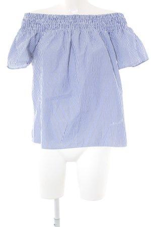 Dorothy Perkins Blusa tipo Carmen blanco-azul acero estampado a rayas
