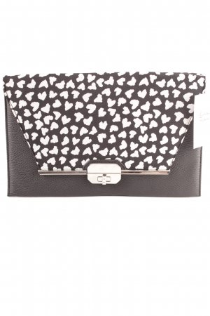 Dorothy Perkins Clutch schwarz-wollweiß Animalmuster Business-Look