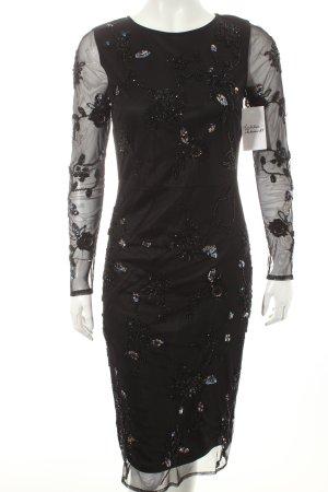 Dorothy Perkins Cocktailkleid schwarz florales Muster Eleganz-Look
