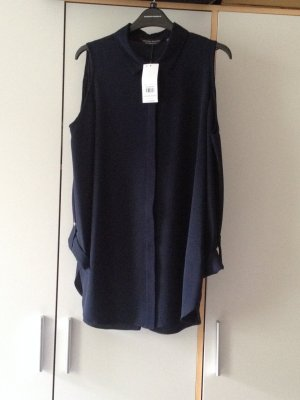Dorothy Perkins - Cold Shoulder Bluse, navy, Gr. 40