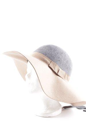 Dorothy Perkins Chapeau en feutre gris-beige motif de tache style décontracté