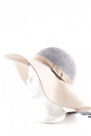 Dorothy Perkins Filzhut grau-beige Punktemuster Casual-Look