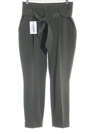 Dorothy Perkins Pantalon taille haute kaki tissu mixte
