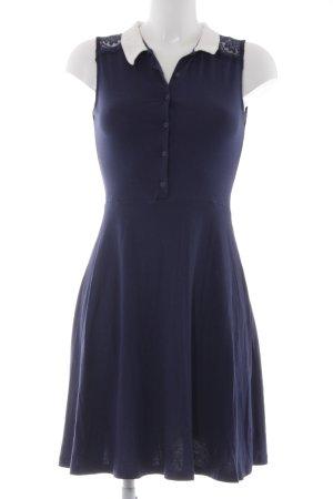 Dorothy Perkins Jerseykleid dunkelblau-weiß Casual-Look