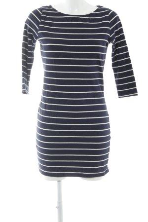 Dorothy Perkins Jerseykleid dunkelblau-wollweiß Streifenmuster schlichter Stil