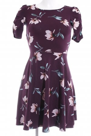 Dorothy Perkins Jerseykleid purpur Blumenmuster Romantik-Look