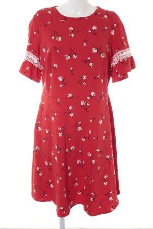 Dorothy Perkins Jerseykleid rot Blumenmuster Casual-Look