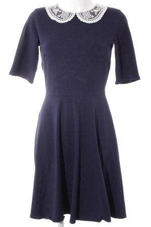 Dorothy Perkins Vestido de tela de jersey blanco-azul oscuro elegante