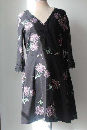 Dorothy Perkins Kleid Langarm schwarz Gr. 40 Baumwolle