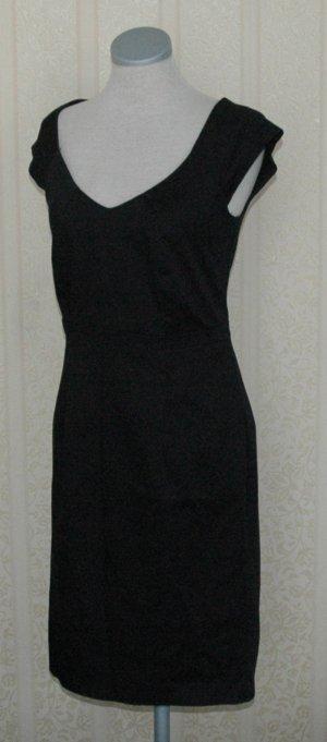 Dorothy Perkins Kleid schwarz Gr. UK 8 EUR 36 S Etuikleid kurzarm business Büro