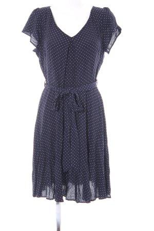 Dorothy Perkins Kurzarmkleid dunkelblau-weiß Punktemuster Casual-Look
