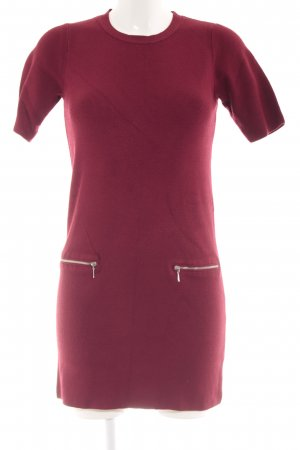 Dorothy Perkins Kurzarmkleid dunkelrot-silberfarben Street-Fashion-Look