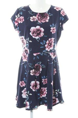 Dorothy Perkins Kurzarmkleid dunkelviolett Blumenmuster Casual-Look