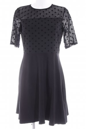 Dorothy Perkins Kurzarmkleid schwarz Punktemuster Elegant
