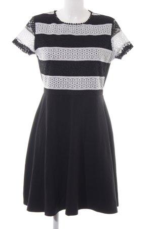 Dorothy Perkins Kurzarmkleid schwarz-wollweiß abstraktes Muster Casual-Look