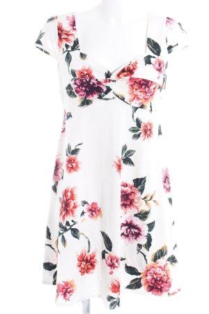 Dorothy Perkins Kurzarmkleid weiß-rot Blumenmuster Casual-Look