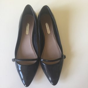 Dorothy Perkins Patent Leather Ballerinas black leather