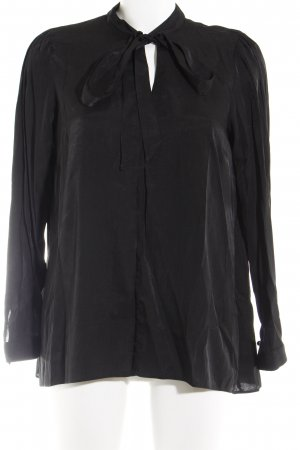 Dorothy Perkins Langarm-Bluse schwarz Business-Look