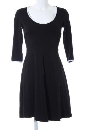 Dorothy Perkins Vestido de manga larga negro-blanco estilo sencillo