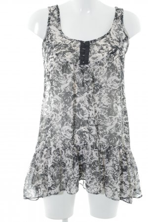 Dorothy Perkins Long Blouse oatmeal-black abstract pattern simple style