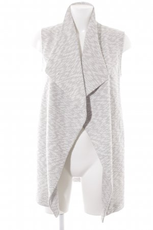 Dorothy Perkins Cardigan lungo smanicato bianco-grigio chiaro puntinato