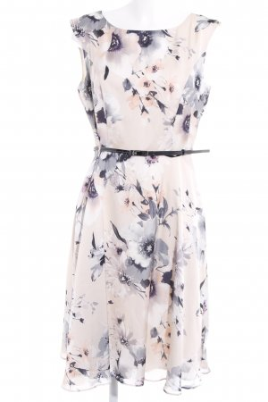 Dorothy Perkins Midi Dress cream-brown violet floral pattern casual look