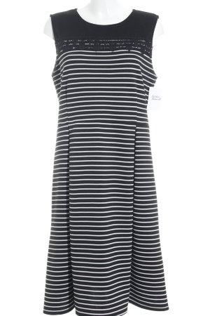 Dorothy Perkins Midikleid schwarz-weiß Streifenmuster Casual-Look
