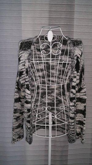 Dorothy Perkins oversize Strickweste schwarz/weiß gemustert