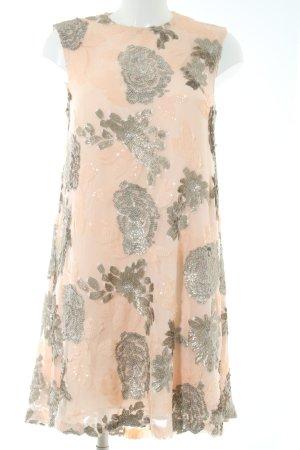 Dorothy Perkins Pailettenkleid nude-silberfarben Blumenmuster Glitzer-Optik