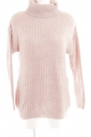 Dorothy Perkins Turtleneck Sweater dusky pink loosely knitted pattern