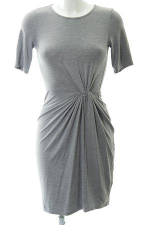 Dorothy Perkins T-shirt jurk lichtgrijs gestippeld casual uitstraling