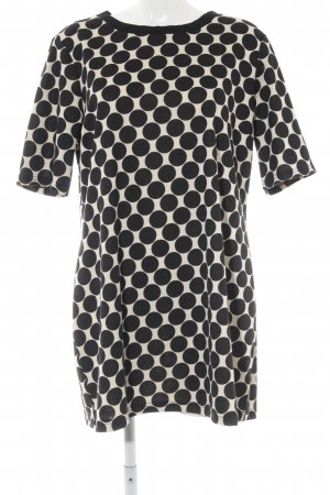 Dorothy Perkins Shirtkleid schwarz-hellgelb Punktemuster Elegant