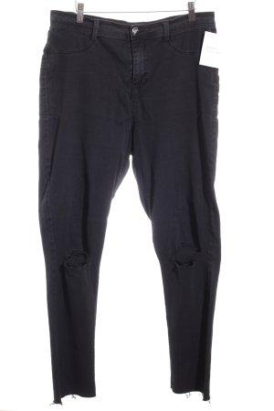 Dorothy Perkins Slim Jeans schwarz Destroy-Optik
