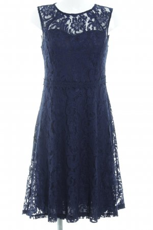 Dorothy Perkins Spitzenkleid dunkelblau Blumenmuster Party-Look