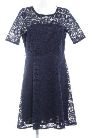 Dorothy Perkins Spitzenkleid dunkelblau florales Muster Elegant