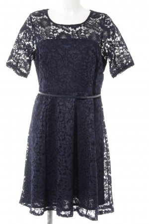 Dorothy Perkins Spitzenkleid dunkelblau florales Muster klassischer Stil