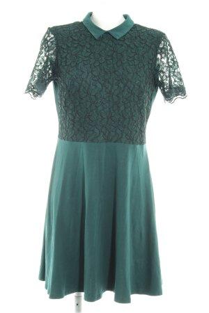 Dorothy Perkins Spitzenkleid dunkelgrün florales Muster Party-Look