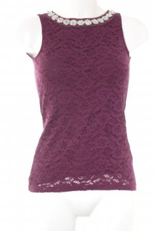 Dorothy Perkins Spitzentop purpur-bordeauxrot Business-Look