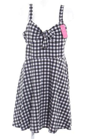 Dorothy Perkins Trägerkleid schwarz-weiß Karomuster Casual-Look