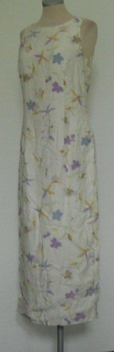 Dorothy Perkins vintage Kleid Etuikleid lang Maxikleid Blumen Gr. UK 12 38 S M